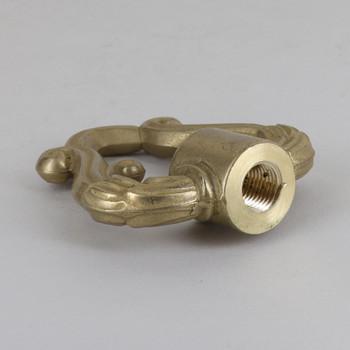 1/4ips Threaded Decorative Brass Loop with Wire Exit Wireway