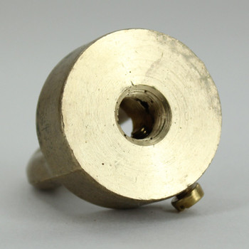 1/8ips - Female Threaded - Brass Loop with Wire Way and M4 Locking Set Screw - Unfinished Brass