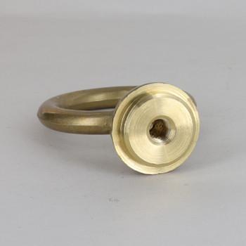 1/8ips Threaded 2-7/8in Diameter Heavy Duty Cast Brass Loop with Wire Way