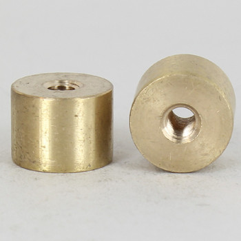 1/4-27 x 1/4-27 Female Threaded Unfinished Brass Straight Coupling