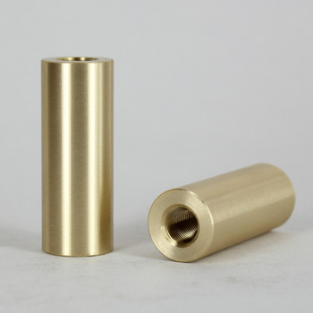 1/8ips - 3/4in X 2in Cylinder Coupling - Unfinished Brass
