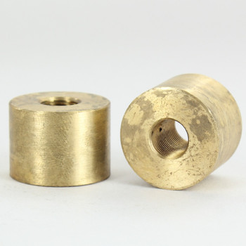 1/8ips - 1in X 3/4in Cylinder Coupling - Unfinished Brass