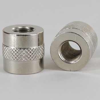 1/8ips - 3/4in X 3/4in Knurled Coupling - Nickel Plated