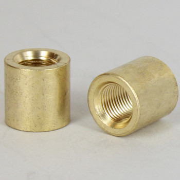 1/8ips - 5/8in X 5/8in Cylinder Coupling - Unfinished Brass