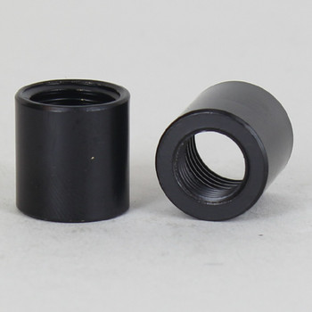 9/16in W X5/8in H - 1/8ips. X 1/4ips. Female Threaded Black Powdercoated Finish Straight Coupling