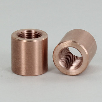 1/8ips - 5/8in X 5/8in Cylinder Coupling - Unfinished Copper
