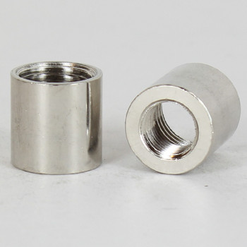 9/16in W x 5/8in H - 1/8ips. X 1/4ips. Female Threaded Nickel Plated Finish Straight Coupling