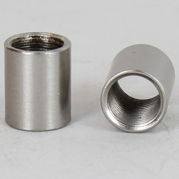 1/2in W X 9/16in H - 1/8IPS. X 1/8IPS. Female Threaded Brushed Nickel FInish Straight Coupling