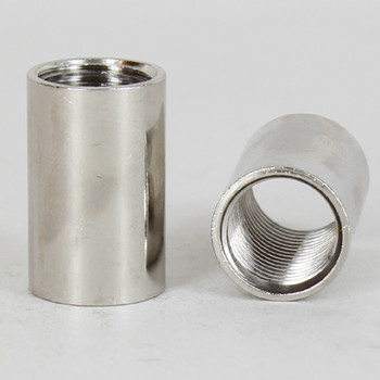 1/4ips - 5/8in X 1in Cylinder Coupling - Nickel Plated