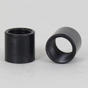 1/4ips - 5/8in X 5/8in Cylinder Coupling - Black Powdercoat
