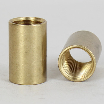 1/4ips - 5/8in X 1in Cylinder Coupling - Unfinished Brass