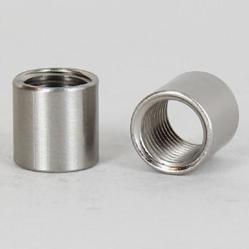 1/4ips - 5/8in X 5/8in Cylinder Coupling - Satin Nickel