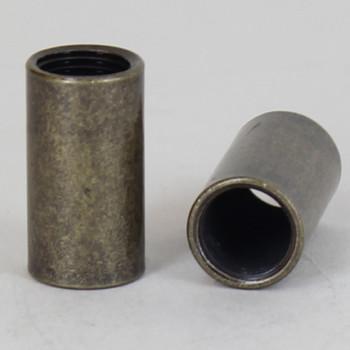 7/8H X 1/2W - 1/8ips. X 1/8ips. Female Threaded Antique Brass Straight Coupling