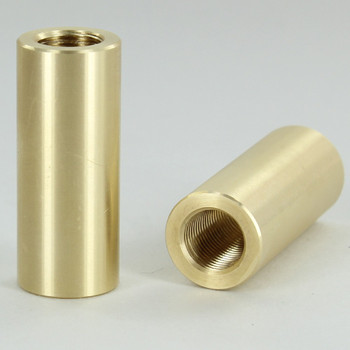 1-1/2in Long X 5/8in Diameter - 1/8ips Threaded Unfinished Brass Coupling.