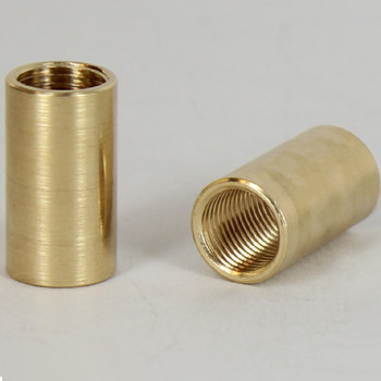 1/2in W X 7/8in H - 1/8ips. X 1/8ips. Female Threaded Unfinished Brass Straight Coupling