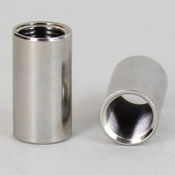 1/2in W X 7/8in H - 1/8ips. X 1/8ips. Female Threaded Nickel Plated Finish Straight Coupling