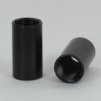 1/2in W X 7/8in H - 1/8ips. X 1/8ips. Female Threaded Black Powdercoated Finish Straight Coupling