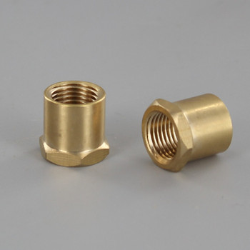 1/2in W X 1/2in H - 1/8IPS. X 1/8IPS. Female Threaded Unfinished Brass Hex Coupling