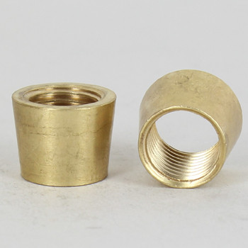 1/4ips - 3/4in X 1/2in Tapered Coupling - Unfinished Brass