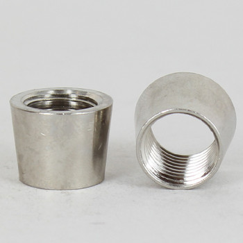 1/4ips - 3/4in X 1/2in Tapered Coupling - Nickel Plated