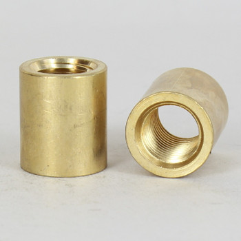 1/4ips - 3/4in X 7/8in Cylinder Coupling - Unfinished Brass