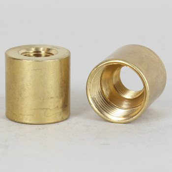 3/4in W X 3/4in H - 1/8ips. X 3/8ips. Female Threaded Unfinished Brass Straight Coupling