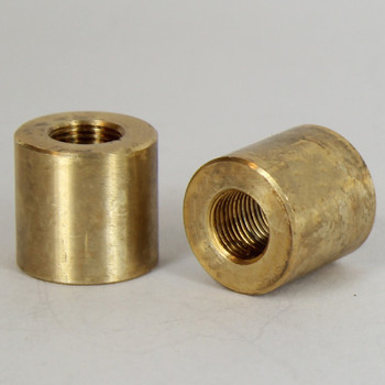 3/4in W  X 3/4in H - 1/8ips. X 1/8ips. Female Threaded Unfinished Brass Straight Coupling
