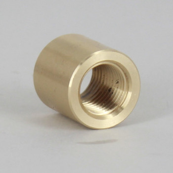 1/4ips - 3/4in X 3/4in Cylinder Coupling - Unfinished Brass