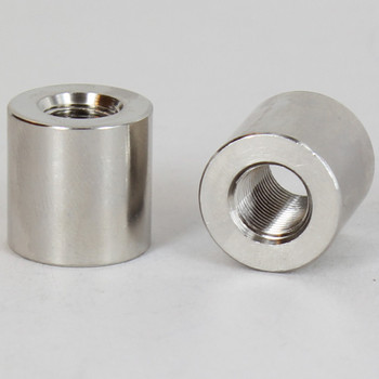 3/4IN W X 3/4IN H - 1/8ips. X 1/8ips. Female Threaded Nickel Plated Finish Straight Coupling