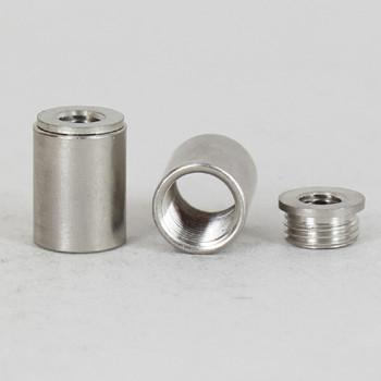 1/8ips. X 1/4-27 Female Threaded Nickel Plated Finish Straight Coupling