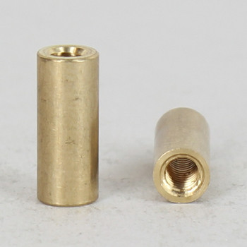 8/32 UNC Female Threaded Unfinished Brass Straight Coupling