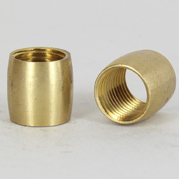 1/4ips - 9/16in X 5/8in Barrel Coupling - Unfinished Brass
