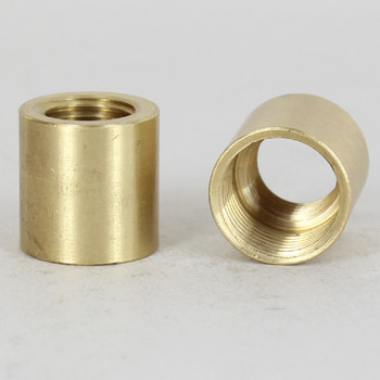 1/4ips. X 3/8ips. Thread Unfinished Brass Straight Coupling