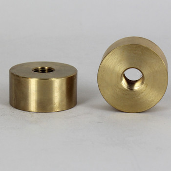 1-1/4in. W x 5/8in. H - 1/8ips. X 1/8ips. Female Threaded Unfinished Brass Large Neck