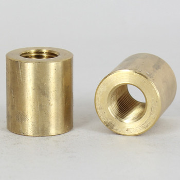 1/4ips - 7/8in X 1in Cylinder Coupling - Unfinished Brass