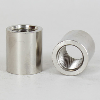 1/4ips - 3/4in X 7/8in Cylinder Coupling - Nickel Plated