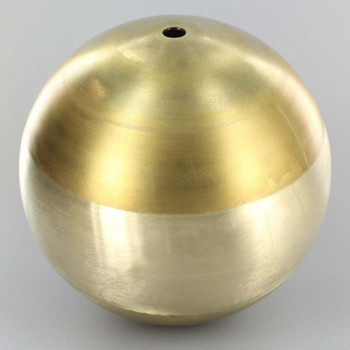 6in. (150mm) Soldered Brass Ball with 1/8 Slip Through Hole