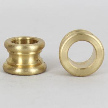 1/4ips. x 1/4ips Female Slip Through Unfinished Brass Turned Neck