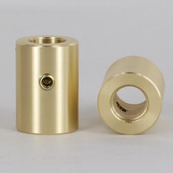 5/16in Slip with 8/32 Locking Set Screw X 1/8ips - Unfinished Brass