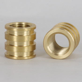 1/4ips - 3/4in X 3/4in Decorative Coupling - Unfinished Brass