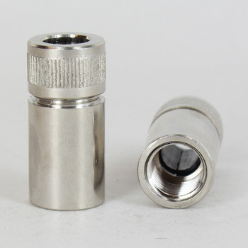 3/4in W X 1-1/2in H - 1/8ips Slip Polished Nickel Finish  Telescopic Clutch w/ 1/4ips Female Thread.