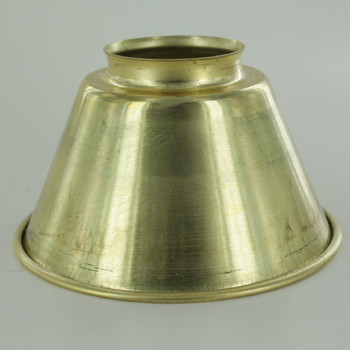 5-3/8in. Small Unfinished Brass Cone Shade with 2-1/4in. Neck