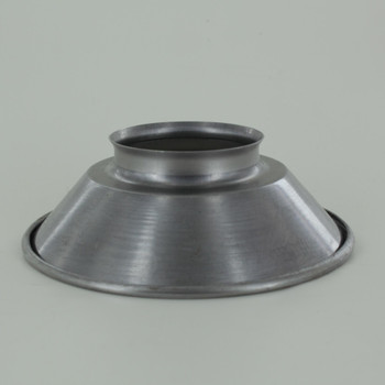 4-7/8in. Small Unfinished Steel Cone Shade with 2-1/4in. Neck