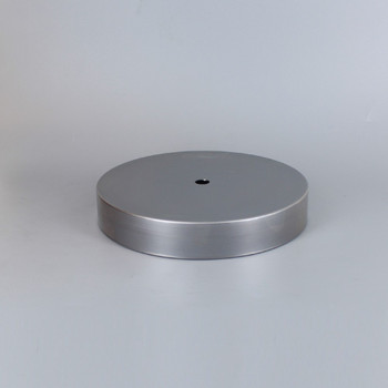 1/8ips Center Hole - 6in Flat Canopy/Base without Wire Way - Unfinished Steel