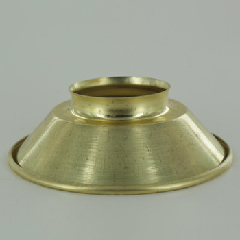 4-7/8in. Small Unfinished Brass Cone Shade with 2-1/4in. Neck