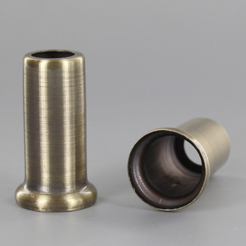 1-1/2in. Height X 1/8ips. Slip Through Stamped Neck - Antique Brass Plated Finish