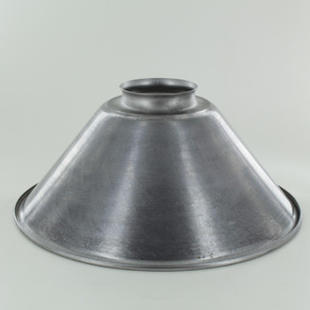 8in. Unfinished Steel Cone Shade with 2-1/4in. Neck