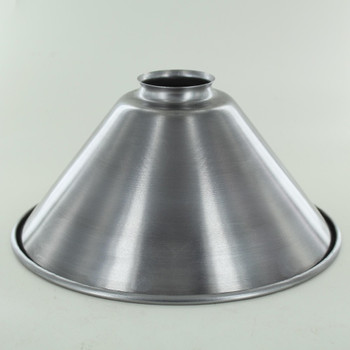 10in. Unfinished Steel Cone Shade with 2-1/4in. Neck