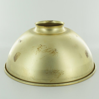 6-1/2in. Unfinished Brass Dome Shade with 2-1/4in. Neck