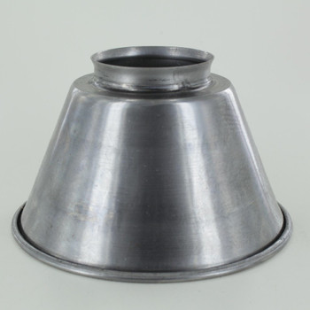 5-3/8in. Small Unfinished Steel Cone Shade with 2-1/4in. Neck